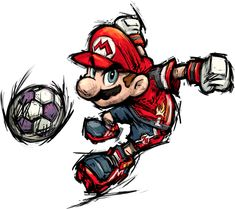 I REALLY WANT NINTENDO TO MAKE A NEW STRIKERS GAME ;o; Super Mario Strikers, Mario Tattoo, Super Mario Art, Nintendo Sega, Mario And Luigi, Mario Brothers, Video Game Art, Super Smash Bros, Anime