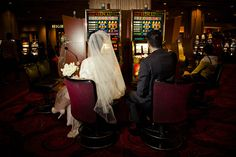 Bride and groom at the MGM Grand. Awesome picture!!