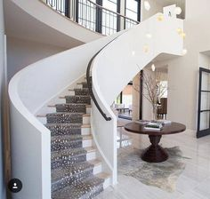 Farmhouse Chandelier, Ceiling Chandelier, Pendant Chandelier, Led Art, Curved Staircase, Staircase Ideas, Corridor Ideas, House Staircase, Staircase Remodel