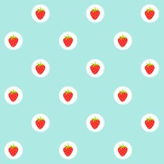 FREE printable strawberry pattern paper