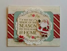 """""""So Vintage!""""   I just love love love this home for Christmas DSP from Stampin'up!!!  Use it with their new Cozy Christmas stamp set.   Just so lovely!"""