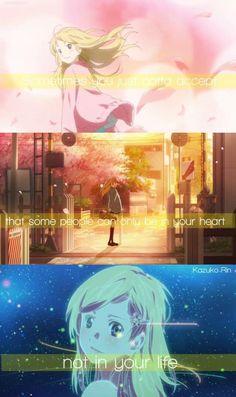 Anime 35 :Shigatsu wa Kimi no Uso / your lie in April (be ready to use tissues) Sad Anime Quotes, Manga Quotes, Manga Anime, Anime Art, I Love Anime, Me Me Me Anime, Hikaru Nara, Miyazono Kaori, Your Lie In April