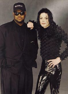 Michael Jackson in a photoshoot for Scream