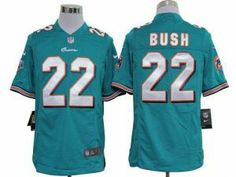 Nike NFL Game Dolphins  22 Reggie Bush Aqua Green Team Color Men s Stitched  Jersey d21ea3378