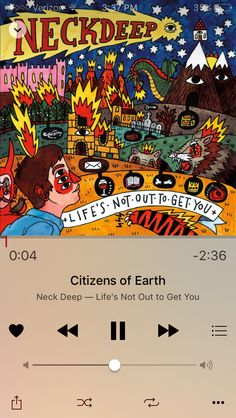Citizens Of Earth -Neck Deep Best Album Art, Deeper Life, Neck Deep, Pop Punk, Album Covers, You Got This, Songs, My Favorite Things, Inspiration