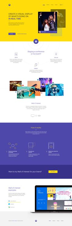 WOI (Wall of Interest Pages) - Ui design concept and visual inspiration by Ante…
