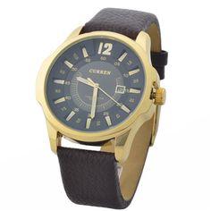 CURREN Mens Watch WM-8046-2 - Gold Black Black Last Day to Buy a Curren Men's Watch. From R191. #watches #Sale #Lastday #zasttra
