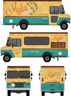 Branding and food truck design for Moku tacos http://www.karynjimenezelliott.com/