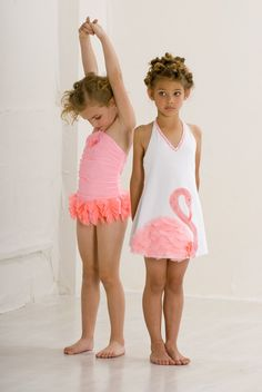 Kate Mack flamingo swimsuit and terry cover