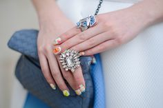 Jeweled rings - Paris Fashion Week #StreetStyle Accessories Fall 2014