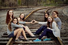 BFF photo Train Tracks.  Best Friends Photo Shoot.
