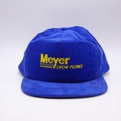 da51ef66 Meyer Snow Plows vintage Corduroy hat - Made in USA - Snapback cap  #Graffiti #