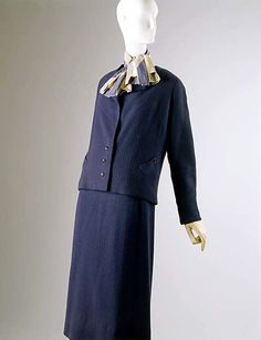 """1932 Wool Suit by Louiseboulanger, French.  Label: """"Louiseboulanger/Champs-Elysée/3 rue de Berri, Paris"""", via MMA."""