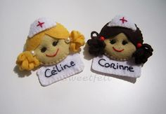 ♥♥♥ Enfermeirinhas... by sweetfelt ideias em feltro, via Flickr