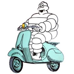 Michelin Bibendum Vespa Scooter by niblog, via Flickr