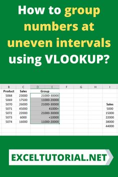 How to group numbers at uneven intervals using VLOOKUP? . #Excel #microsoftexcel #Exceltutorial #Exceltutorials #Exceltutor #tutorialexcel #microsofttrainingexcel #microsoftexceltips #Excelformulas #Excelvba #Exceltips #Exceltipsandtricks #Excelvideo #Excelshorcuts Microsoft Excel, Vlookup Excel, Excel Tips, Simple Words, Simple Way, Excel Formulas, Excel For Beginners, Data Entry, Ms