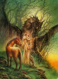 Dragon fantasy art dragons