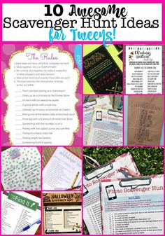 Best Scavenger Hunt Ideas for Tweens! - Geburtstagspartyideen -The Best Scavenger Hunt Ideas for Tweens! Outdoor Scavenger Hunts, Scavenger Hunt Birthday, Scavenger Hunt Clues, Scavenger Hunt For Kids, Mall Scavenger Hunt, Birthday Party Games For Kids, Kids Party Themes, Teen Birthday, Birthday Party Themes