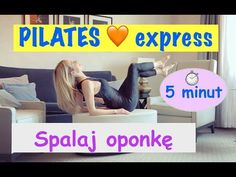 Spalaj oponkę na brzuchu w 5 minut | Pilates | Ola Żelazo - YouTube Pilates, Fitness Inspiration, Dinosaur Stuffed Animal, Stress, Health Fitness, Yoga, Workout, Sports, Plank