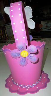 Como hacer cesta con Foamy, tutorial paso paso... www.tusmanualidad...