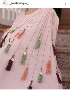 Best 12 Abaya by Dhoha al nahari – Page 611363718138437017 – SkillOfKing. Embroidery On Kurtis, Kurti Embroidery Design, Embroidery Fashion, Embroidery Dress, Embroidery Jewelry, Kurti Sleeves Design, Sleeves Designs For Dresses, Kurta Neck Design, Dress Neck Designs