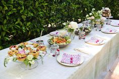 Cherry themed kids' party with mini pies + cherry patterned napkins