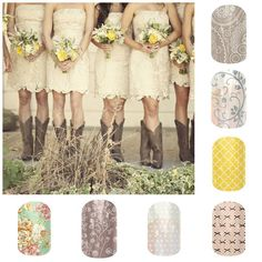Country Wedding nails!