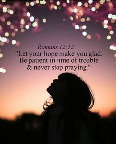 "Nice sentiment to ""let your hope make you glad . . .""  :]"
