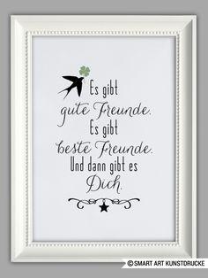 """Originaldruck - """"ZUM GLÜCK GIBT ES DICH"""" Kunstdruck F... - ein Designerstück von Smart-Art-Kunstdrucke bei DaWanda"""
