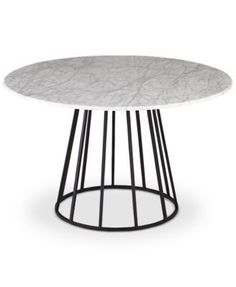 Callisto Marble Round Dining Table, Only at Macy's | macys.com