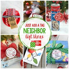 25 Easy Neighbor Gifts: Just Add a Tag - Crazy Little Projects Christmas Gifts For Coworkers, Cheap Christmas Gifts, Diy Holiday Gifts, Homemade Christmas Gifts, Simple Christmas, Xmas Gifts, Homemade Gifts, Christmas Ideas, Christmas Crafts