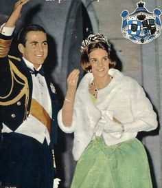 Constantine and Anne-Marie of Greece at Princess Beatrix's wedding Casa Real, Constantine Ii Of Greece, Olympia, Greek Royalty, Anne Maria, Greek Royal Family, Princesa Real, Danish Royals, Princess Anne