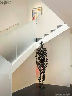 Astonishing Contemporary Metal Wall Art Wall Sculptures Decorating Ideas Gallery in Staircase Contemporary design ideas Staircase Contemporary, Contemporary Metal Wall Art, Contemporary Design, Modern Design, Modern Stairs, Glass Railing, Stair Railing, Railings, House Deck