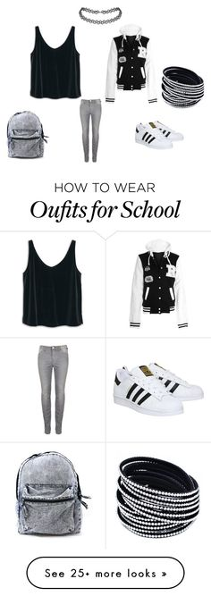 """Back to school"" by djstormi on Polyvore featuring MANGO and adidas"