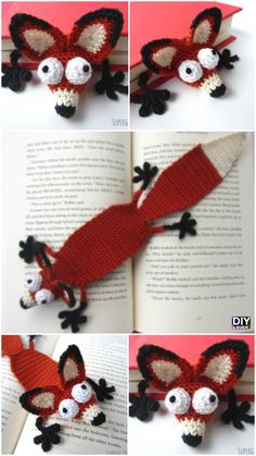 Crochet Amigurumi Fox Bookmark Pattern #freepattern