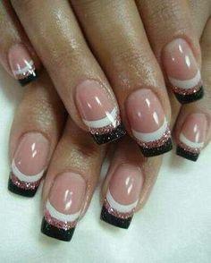 trendy french by fantasyfairy - Nail Art Gallery nailartgallery.na... by Nails Magazine www.nailsmag.com #nailart