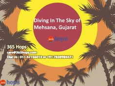 Diving In The Sky of Mehsana, Gujarat  >>> The Sky dive is conducted in the Mehsana city of Gujarat. It is just 75kms away from Ahmadabad. The organizers called Skyriders, has organized a camp here. The temple city looks beautiful from 10,000 feet above sea level.   #Skydive, #Skydiving, #India, #Gujarat, #365hops