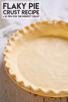 Pie Crust Recipe No Shortening, Pecan Pie Crust Recipe, Quiche Crust Recipe, Lard Pie Crust, Flakey Pie Crust, Pie Dough Recipe, Homemade Pie Crusts, Pie Crust Recipes, Best Pumpkin Pie Crust Recipe