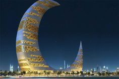 Cresent Moon Tower in Dubai is THE most beautiful and most unique building I've ever seen!!