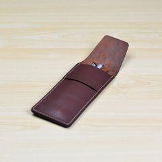 Leather Pen Case Pencil Case Leather Pen Pouch by ZETAleathergoods