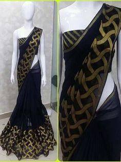 Silk Saree Blouse Designs, Saree Blouse Patterns, Bridal Blouse Designs, Saree Designs Party Wear, Party Wear Sarees, Indian Bridal Outfits, Indian Bridal Fashion, Indian Designer Sarees, Indian Designer Outfits