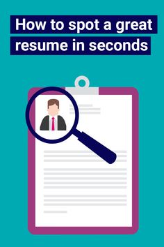 In order to save time and source the best talent for the job, hiring managers need to be able to scan resumes quickly. Here are the top five rules to help you spot a great resume in seconds. Job Interview Questions, Job Interview Tips, Job Career, Career Advice, Life Skills, Life Lessons, Great Resumes, Job Employment, Job Info