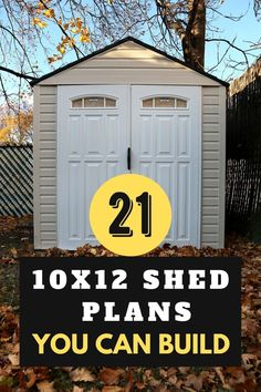 Shed building has always been somewhat of a challenge for every single DIY-er. That is why we put together these 10×12 shed plans you can build. Each shed plan has its own strengths and weaknesses. So, you should choose shed plans suitable or customize the design of shed for your situation to store items. Shed Design, Roof Design, Diy Furniture Projects, Diy Wood Projects, Woodworking Plans, Woodworking Projects, 10x12 Shed Plans, Build Your Own Shed, Barns Sheds