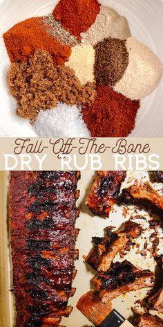Rub For Pork Ribs, Oven Pork Ribs, Ribs Recipe Oven, Oven Baked Ribs, Ribs On Grill, Pork Dry Rubs, Oven Ribs Dry Rub, Baking Ribs In Oven, Marinade For Pork Ribs