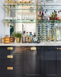 57 Fabulous Home Bar Designs You'll Go Crazy For. Decorating your ideal home bar design. Consider yourself lucky if you've got your own home bar – it's a perfect social gathering spot that's. Home Wet Bar, Diy Home Bar, Bars For Home, Modern Home Bar, Casa Milano, Living Room Bar, Bar In Dining Room, Home Bar Designs, Wet Bar Designs