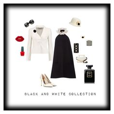 """Black and white collection"" by michelechambers ❤ liked on Polyvore featuring Valentino, Isa Arfen, Tom Ford, M2Malletier, Bottega Veneta, Nine West, Lanvin, MICHAEL Michael Kors, Alexa Starr and Aurélie Bidermann"