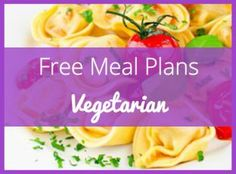 Thinking about going vegetarian? Try this vegetarian meal plan for one week! Part of a series of complete weekly meal plans with nutritional information and shopping lists.