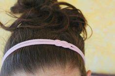 Create a cute headband out of an old tee.
