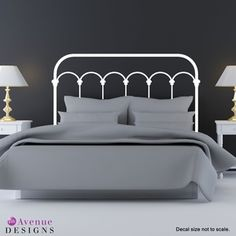 """Wrought-Iron Headboard"" wall decal"