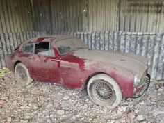 1958 Aston Martin DB MkIII Sports Saloon Coachwork by Tickford Coys of Kensington Aston Martin Db3, Classic Aston Martin, Aston Martin Lagonda, Junkyard Cars, Rust In Peace, Rusty Cars, Old Classic Cars, Abandoned Cars, Abandoned Vehicles